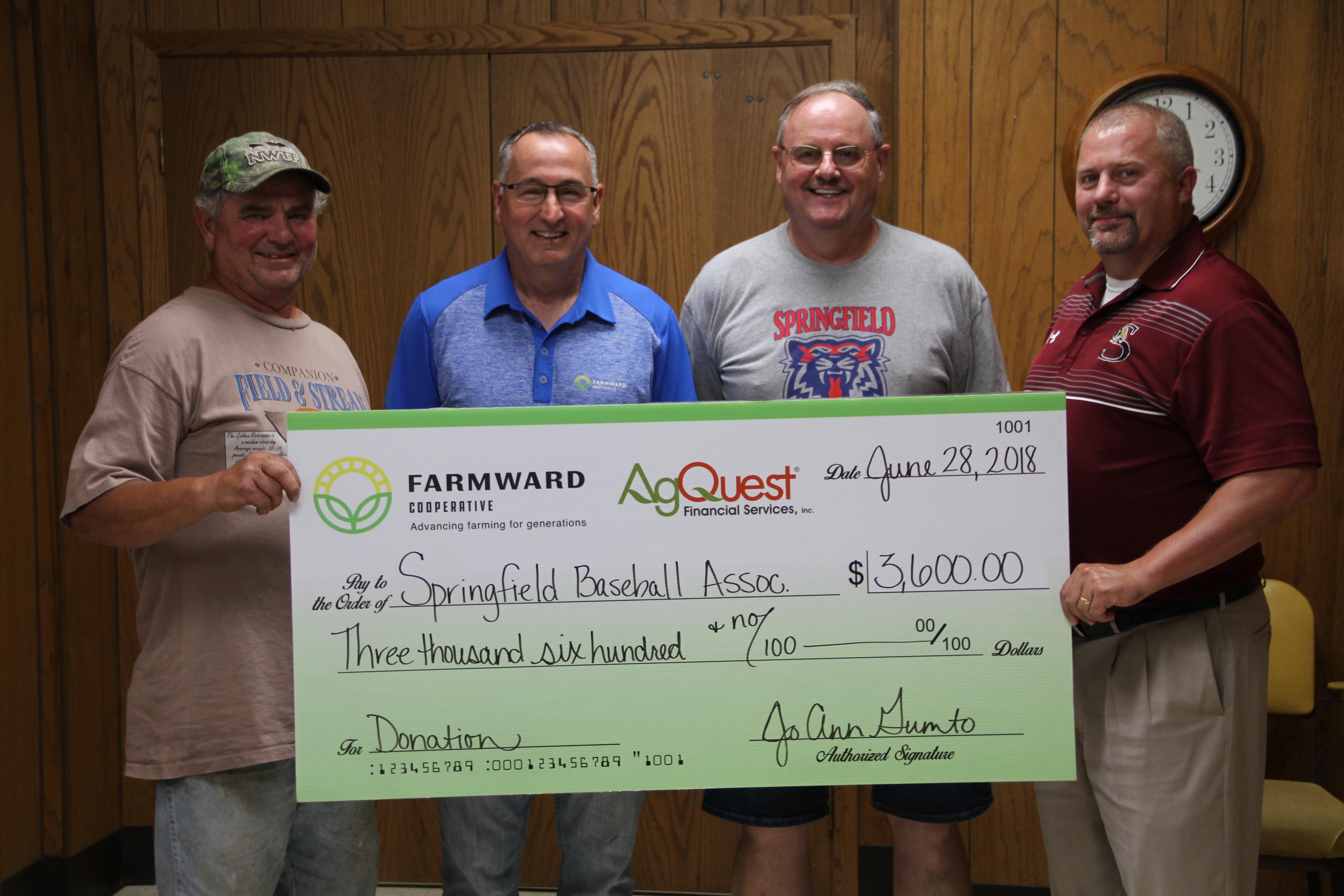 Farmward Donates to Springfield Baseball Association